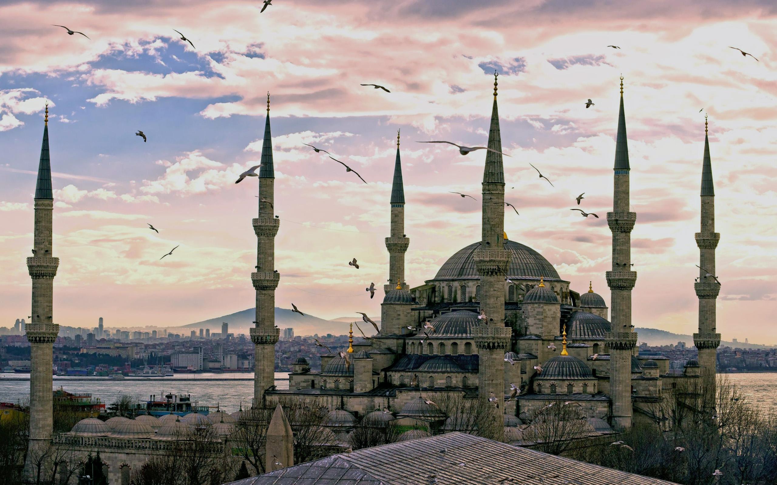 Обои стамбул, фонтан, турция, мечеть, Вода, мечеть султанахмет. Города foto 11
