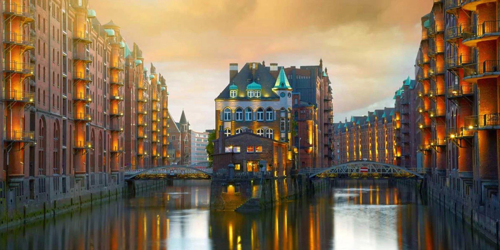 Обои германия, Пейзаж, Новая ратуша, ганновер, пруд. Города foto 18