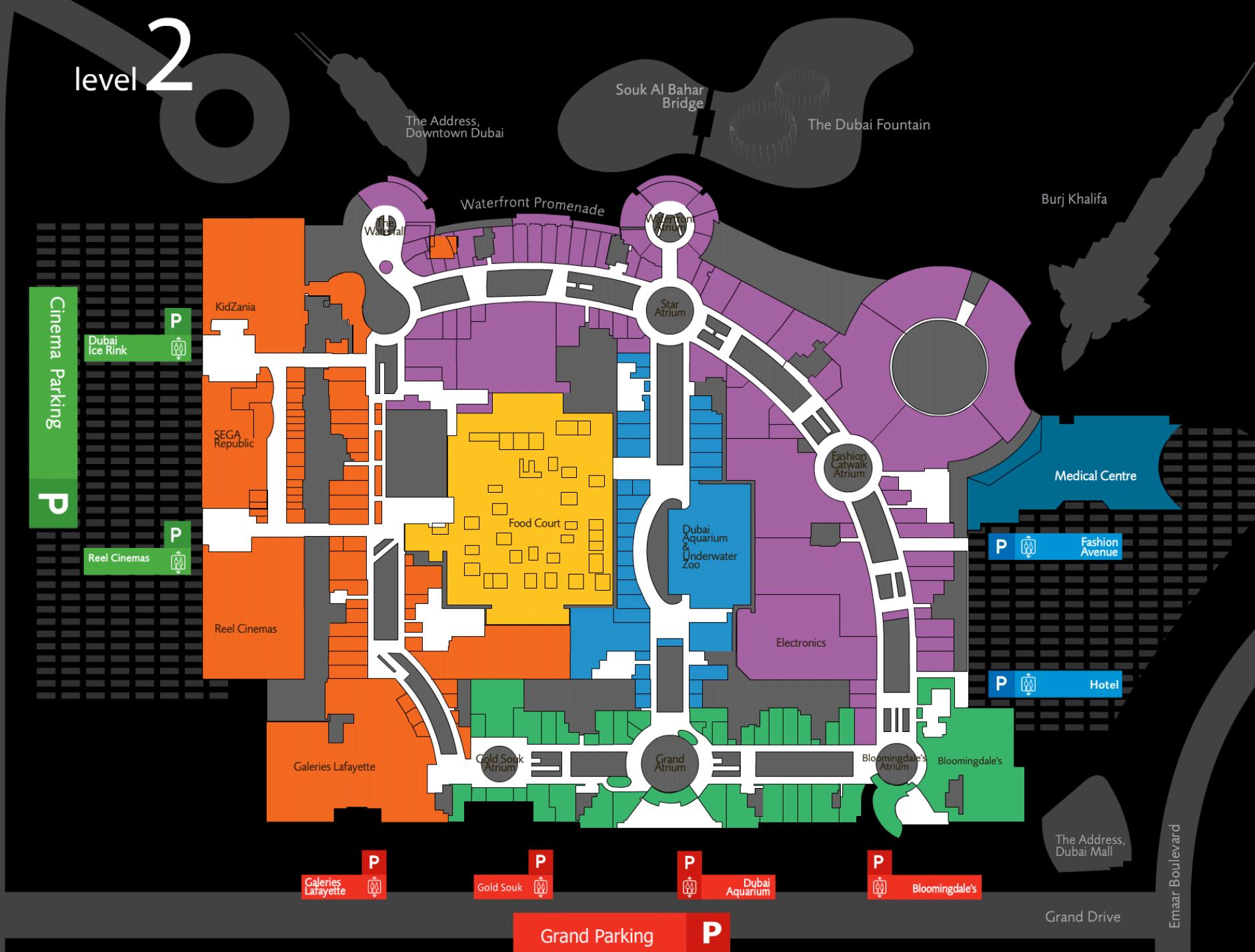 карта дубай молла на русском