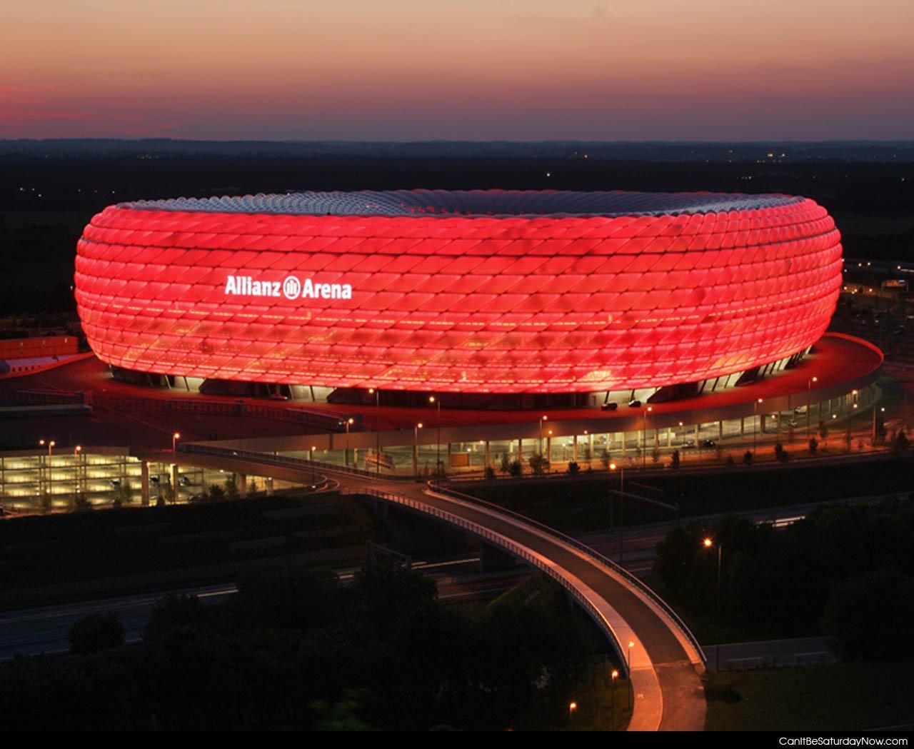 Обои альянц арена, мюнхен, подсветка, германия, стадион. Города foto 11