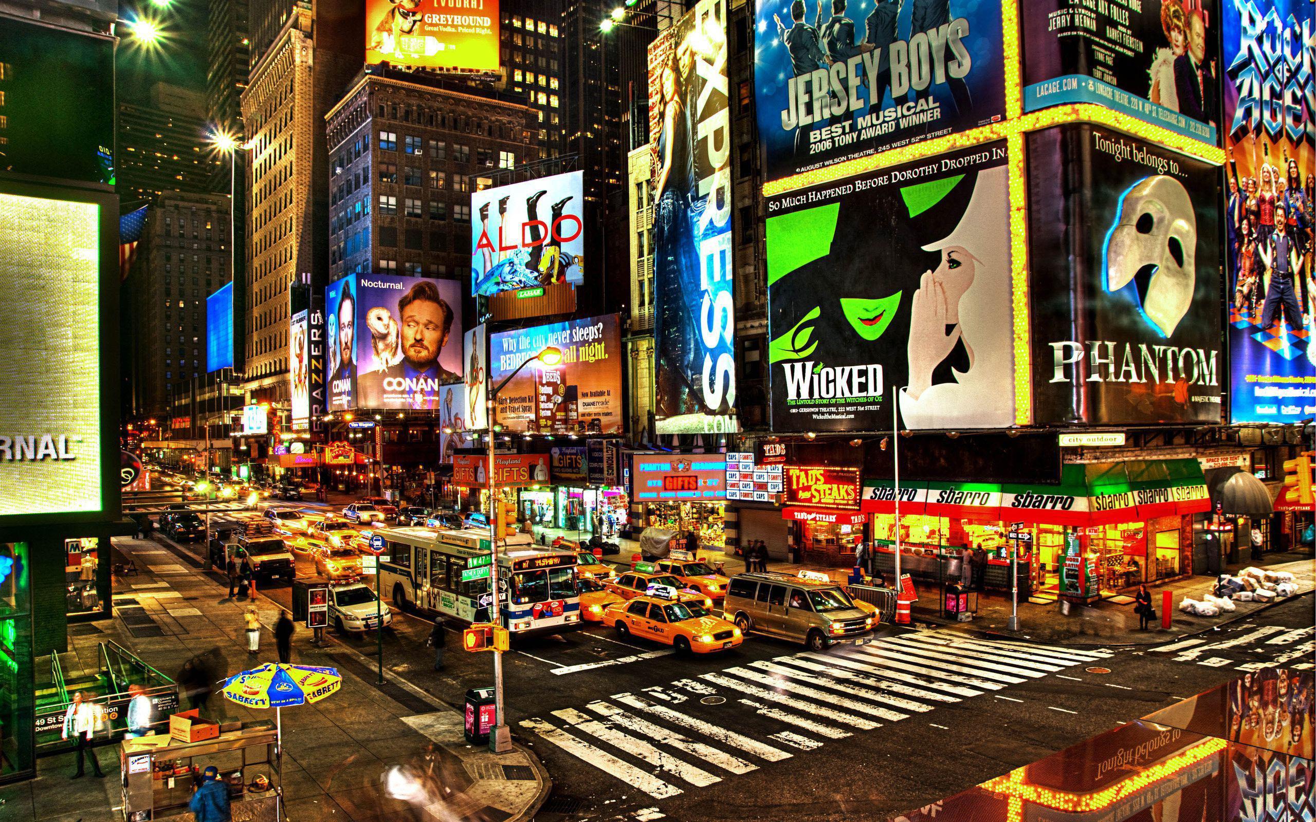 Обои ночь, движение, manhatten, чайнатаун, улица, здание, манхеттен. Города foto 17