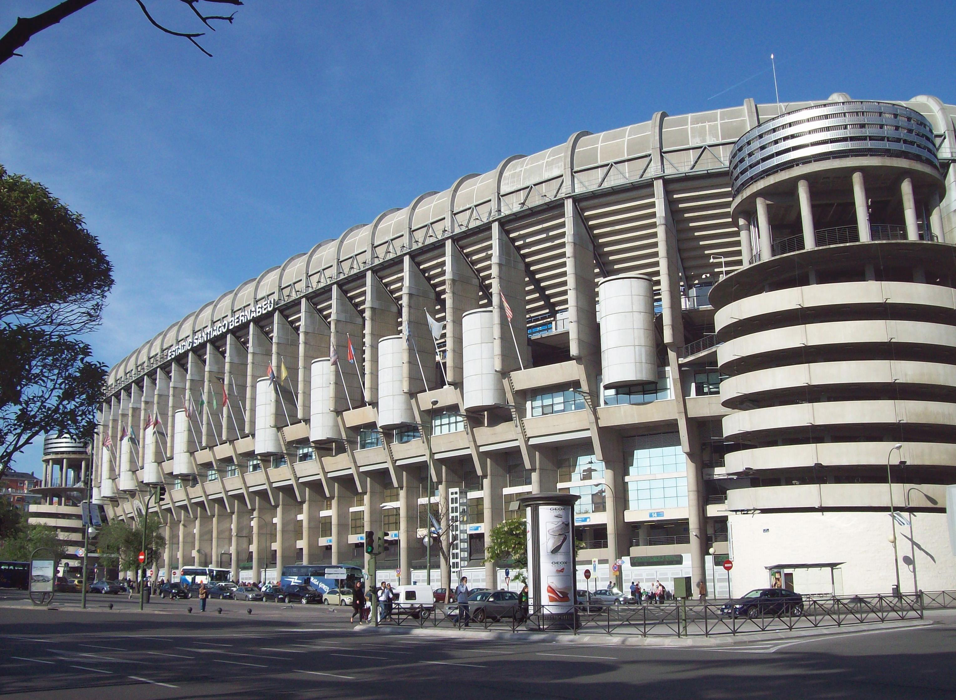 Стадион реал мадрида вулиця