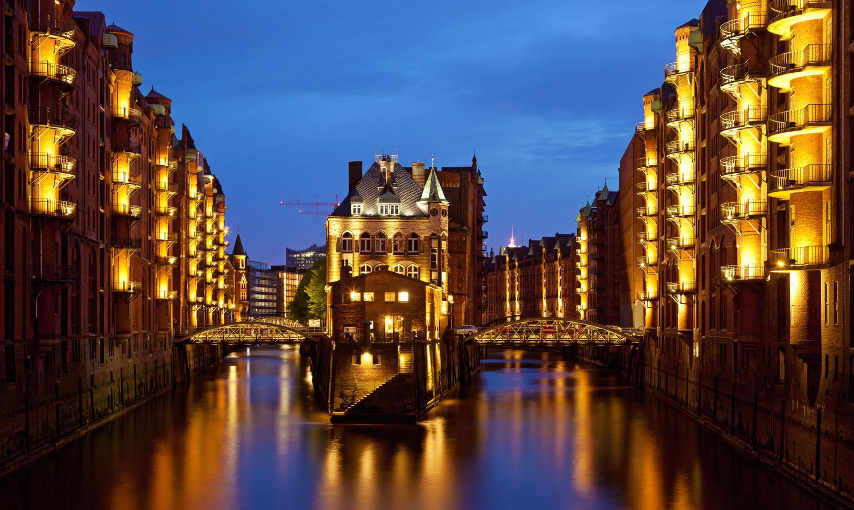 Обои шпайхерштадт, германия, гамбург. Города foto 14